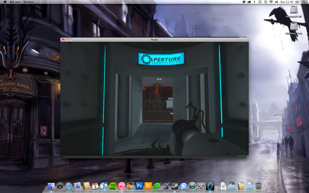 A screenshot of Portal running in a Window under OS X.