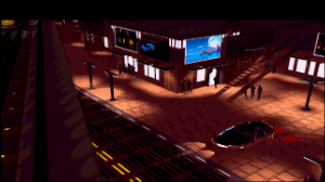 An old CGI image of a dystopian scene.